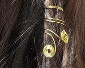 Loc Jewelry  Hair Accessory  Hair Clip  Bohemian  Boho  Hippie Jewelry  Wire Wrapped