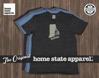 Rhode Island Home. tshirt- Men's/Unisex