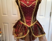 Beautiful Gold and Burgundy ArtStone Ballet Dance and/or Pageant Costume