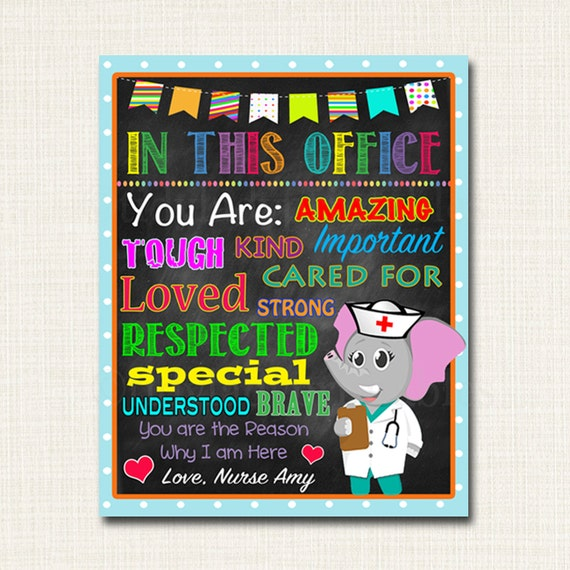 custom school nurse decor pediatric nurse decor nursing sign