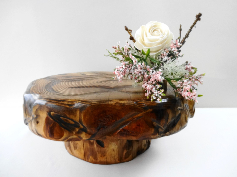 Wooden centerpiece pedestal wood