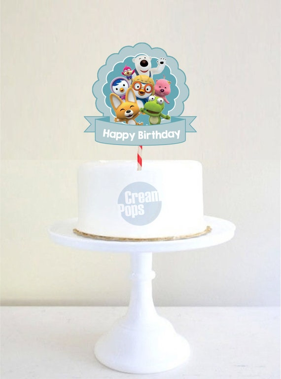 Cake Toppers Birthday Etsy : Pororo & Friends Birthday Cake Topper
