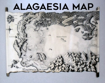 MAP of ALAGAESIA, ERAGON Map,Christopher Paolini, Eldest, Brisingr, Inheritance, Alagaesia Map, Map of Alagaësia Handmade Scroll Handcraft