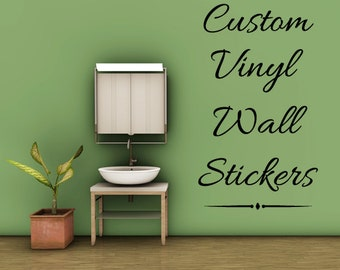 Superbe Create Your Own Quote Personalized Wall Quote Sticker   Wall Decal Custom  Vinyl Art Stickers