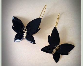 Mariposita Butterfly Earrings, made of Brass  from Greece gift for her