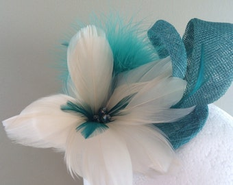 Green Fascinator Jade Feather Fascinator