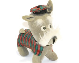 Vintage Scottish Terrier, Dream Pet Plush Toy Dog by Dakin