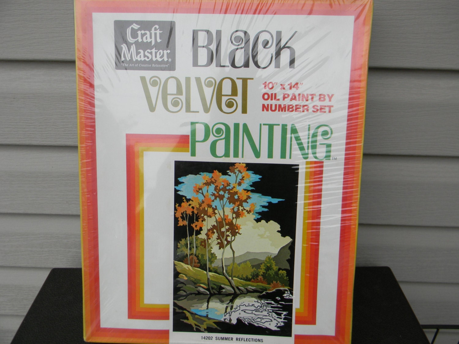 Craft master paint by number kits - Vintage Rare Black Velvet 14202 Paint By Number Kit Summer Reflections Craftmaster Dating Back To 1970 S Unused
