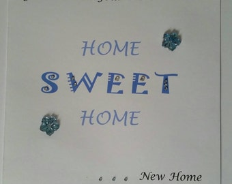 Handmade Good luck in your new home card
