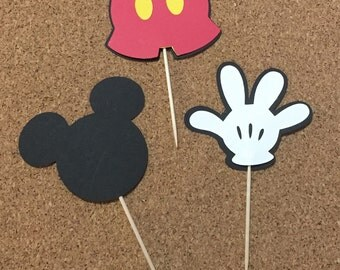 """1.5"""" Mickey Mouse Cupcake Topper set"""
