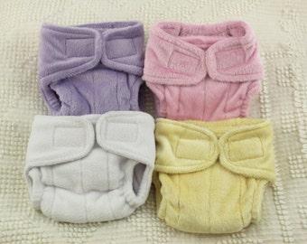 Preemie Plumpie Rumpie silicone minky/fleece diaper nappy for reborn doll baby kits!
