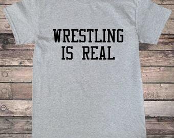 Wrestling is Real Pro Wrestling T-Shirt