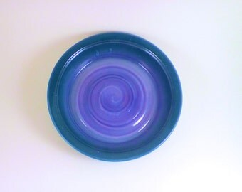 Pottery purple and green pie plate, pie plate, deep dish pie plate, pottery pie plate, ceramic pie plate, casserole dish, oven  safe dish
