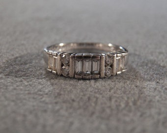 Vintage Sterling Silver & CZ Stunning Couture Ring, A Glamorous Essential in Size 9.5 **RL