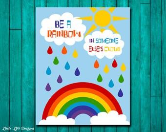 Rainbow Party Decor. Rainbow Sign. Rainbow Wall Art. Rainbow Wall Decor. Rainbow Art. Rainbow Party Decoration. Playroom Decor. Classroom.