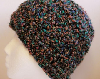 Burgundy Beanie Burgundy Crocheted Beanie Hat Crocheted Beanie Hat Multi Colored Burgundy Turquoise Beanie