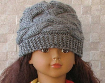 Hand knitted baby Hat  girl slouchy beanie. Baby Girl Winter Hats 1-2 years