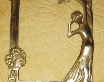 Brass Art Nouveau Frame