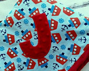 Applique Baby Blanket, Baby Blanket, Minky Blanket, Personalized Baby Blanket