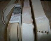 1 yd. Bridal 1920s French Silk Velvet  Ribbon Rare Old Store Stock Wedding Sash