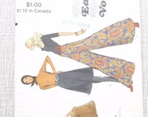 """Gaucho Pants in Three Lengths Darted into Waistband Waist 24"""" Complete Vintage Vogue Sewing Pattern 7909 Very Easy"""