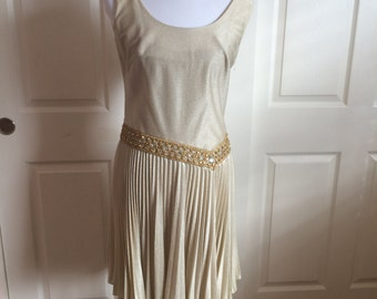 1950s or 60s gold dress size M L