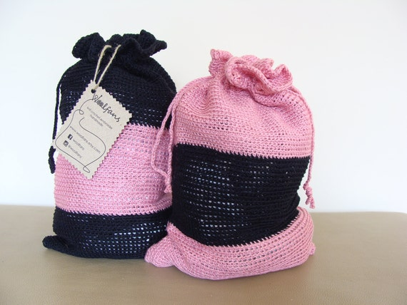 Hand Crochet Travel Bags Lingerie Bags Laundry Bags