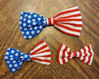 Patriotic Bow CUSTOMIZABLE [hair bow OR bow tie]