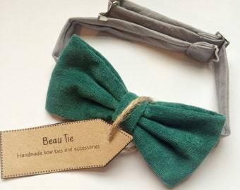 velvet mens bow tie, turquoise velvet bow tie, mens velvet bow tie, mens turquoise bow tie