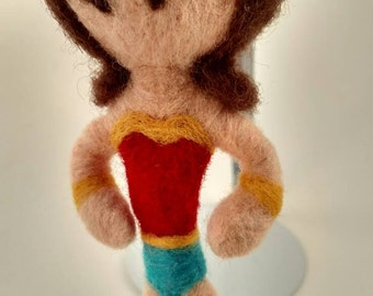 Wonder Woman needle felted doll