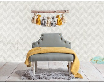 Newborn Baby Photography Prop Upholstered Bed or Bench