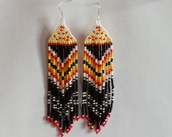 Native American  Beaded Earrings  Inspired. Colorful Earrings. Gift For Woman