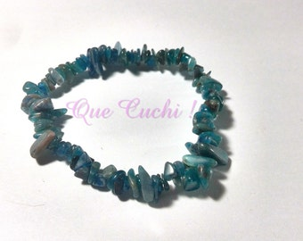 Baroque Bracelet with Apatite Blue Chips