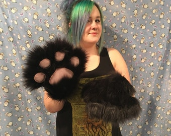 Wrist length fursuit paws