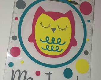 Personalized Owl Clipboard-great for teachers!