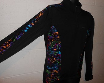 Vintage The Finals Black Neon Colorful Long Sleeve Biking Cycling Jersey Shirt