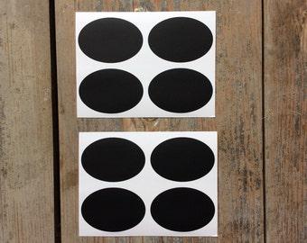 12 stickers sticker oval slate chalkboard
