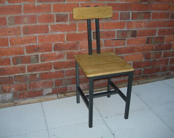 Lovely high back industrial style dining chair
