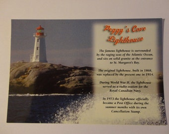 Peggy's Cove Lighthouse Postcard ~ FREE Domestic Shipping