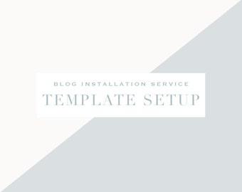 Blogger Template Setup Service