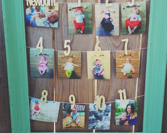 1st Birthday monthly photo banner, Monthly Photo Banner, First Birthday Banner, Birthday Party Happy Birthday, Monthly Banner, 1st birthday
