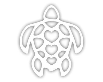 Turtle Heart decal