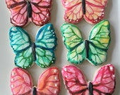 Gluten Free Decorated Spring Butterfly Sugar Cookie