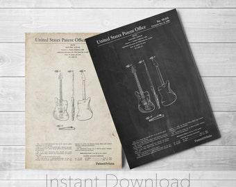 Fender Guitar Printables, Guitar Print, Vintage Guitar, Music Art, Guitar Dad, Fender Guitar, PP0417