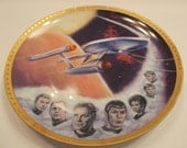 Star Trek USS Enterprise Collectible Hamilton Plate
