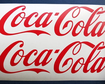 Coca Cola Decal Etsy