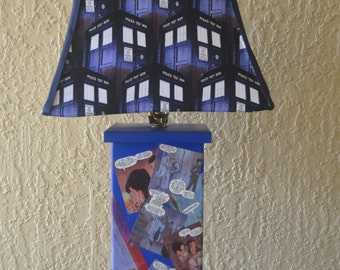 Dr Who Lamp-Large Decopague