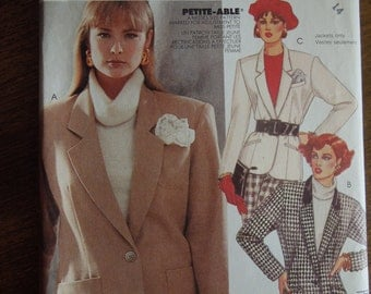 McCalls 2660, size 14, petite, misses, womens, teens, lined jacket, UNCUT sewing pattern, craft supplies