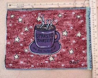 Tapestry panel Espresso Yourself