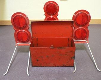 Red reflectors, Industrial art supplies, Man Cave, Kitsch, Emergency reflectors